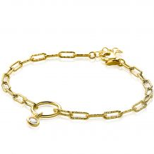 ZINZI-Sterling-Silver-Paperclip-Chain-Bracelet-14K-Yellow-Gold-Plated