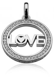 ZINZI-zilveren-hanger-met-LOVE-in-rand-25mm-wit-LOVEH08