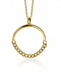 ZINZI-Sterling-Silver-Pendant-14K-Yellow-Gold-Plated-24mm-Curb-Chains