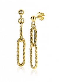 ZINZI-Sterling-Silver-EarRings-14K-Yellow-Gold-Plated-38mm-Oval-Chains