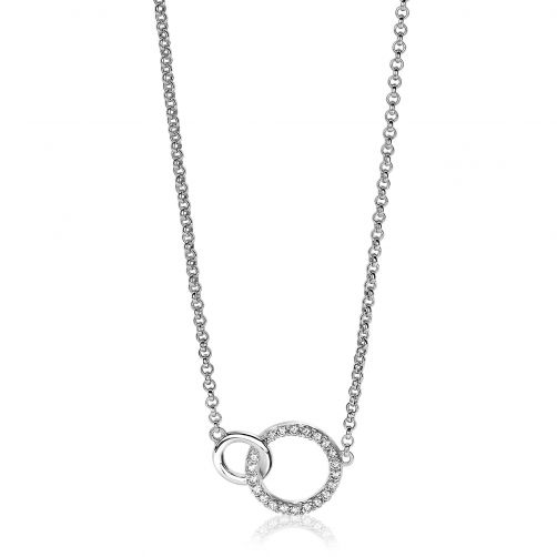 ZINZI-Sterling-Silver-Necklace-2-Open-Circles
