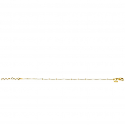 ZINZI-Sterling-Silver-14K-Yellow-Gold-Plated-Curb-Chain-Bracelet-Whiteh-Beads