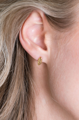 ZINZI-Sterling-Silver-Ear-Studs-14K-Yellow-Gold-Plated-Feather