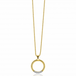 ZINZI-Sterling-Silver-Round-Pendant-22mm-in-14K-Yellow-Gold-Plated