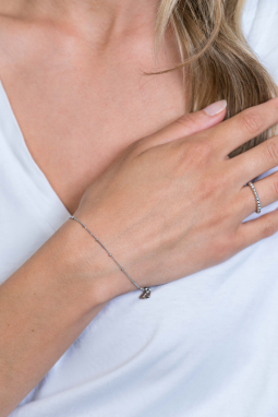ZINZI-Sterling-Silver-Curb-Chain-Bracelet-Whiteh-Beads