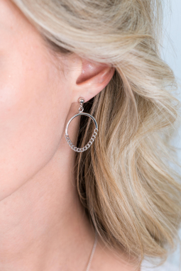 ZINZI-Sterling-Silver-EarRings-24mm-Round-Curb-Chains