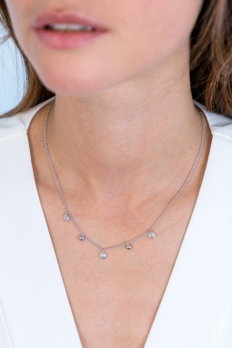 ZINZI-Sterling-Silver-Necklace-45cm-Beads
