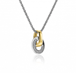 ZINZI-Sterling-Silver-Bicolor-Pendant-15mm-Oval